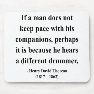 Cita 4a de Thoreau Alfombrillas De Ratón