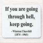 Cita 4a de Winston Churchill Alfombrillas De Ratón