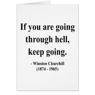 Cita 4a de Winston Churchill Tarjetón