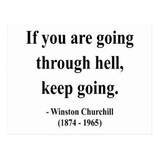 Cita 4a de Winston Churchill Postal