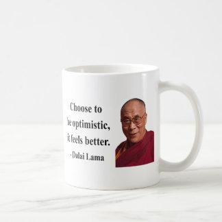 cita 4b de Dalai Lama Taza Básica Blanca