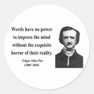 Cita 4b de Edgar Allen Poe Pegatina Redonda