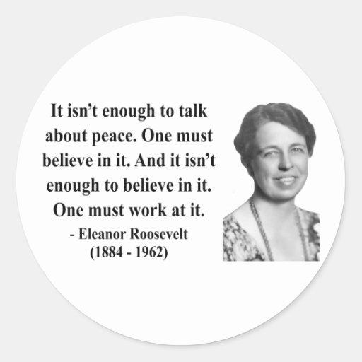 Cita 4b de Eleanor Roosevelt Pegatina Redonda