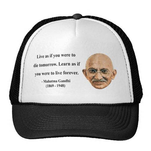 Cita 4b de Gandhi Gorras