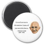 Cita 4b de Gandhi Imán Para Frigorifico