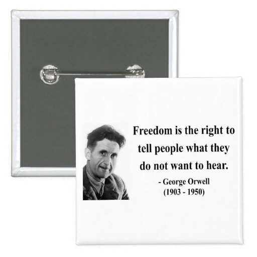 Cita 4b de George Orwell Pin