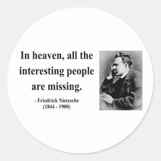 Cita 4b de Nietzsche Pegatinas Redondas