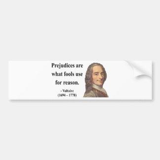 Cita 4b de Voltaire Pegatina De Parachoque