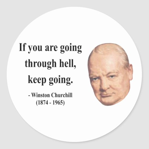 Cita 4b de Winston Churchill Etiqueta