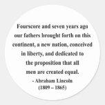 Cita 5a de Abraham Lincoln Pegatinas