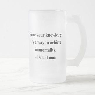 cita 5a de Dalai Lama Taza Cristal Mate
