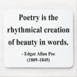 Cita 5a de Edgar Allen Poe Alfombrilla De Ratón