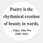 Cita 5a de Edgar Allen Poe Pegatinas Redondas