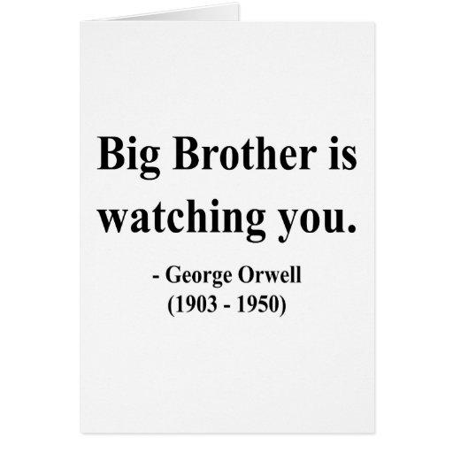 Cita 5a de George Orwell Tarjeta De Felicitación