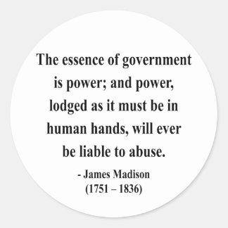 Cita 5a de James Madison Pegatinas Redondas