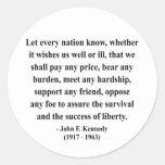 Cita 5a de JFK Etiqueta