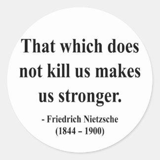Cita 5a de Nietzsche Etiquetas Redondas