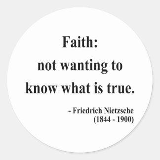 Cita 5a de Nietzsche Pegatinas Redondas