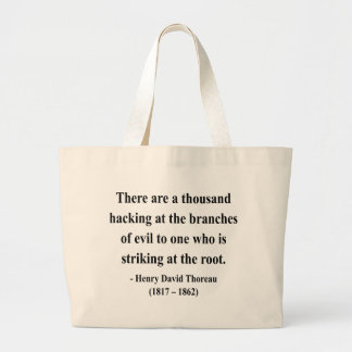 Cita 5a de Thoreau Bolsa Tela Grande