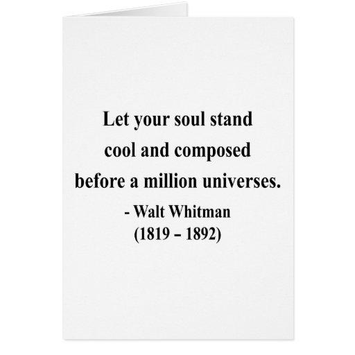 Cita 5a de Whitman Tarjeta De Felicitación