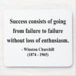 Cita 5a de Winston Churchill Alfombrillas De Ratón