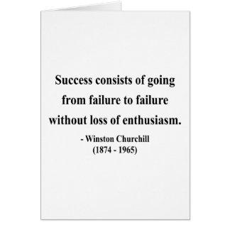 Cita 5a de Winston Churchill Tarjetón
