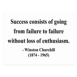 Cita 5a de Winston Churchill Postal