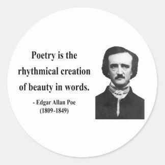 Cita 5b de Edgar Allen Poe Pegatinas Redondas