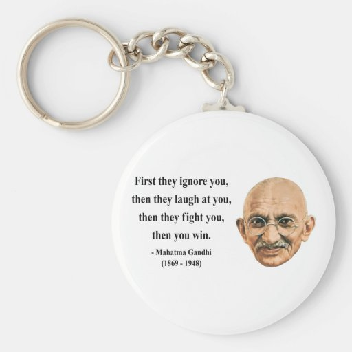 Cita 5b de Gandhi Llavero Redondo Tipo Pin
