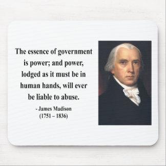 Cita 5b de James Madison Alfombrilla De Ratones