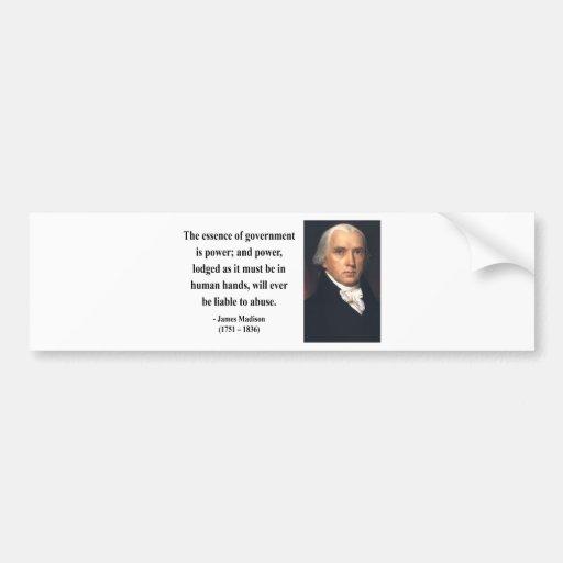 Cita 5b de James Madison Pegatina Para Auto