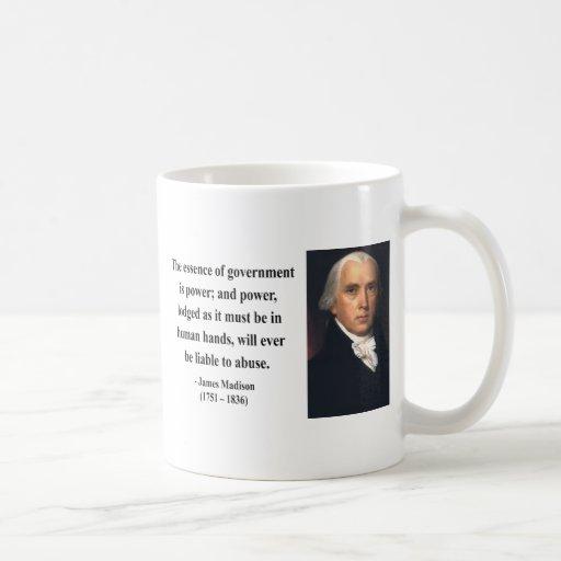 Cita 5b de James Madison Tazas De Café