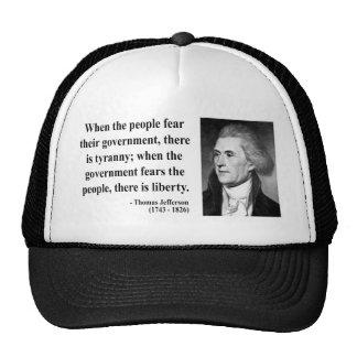 Cita 5b de Thomas Jefferson Gorras