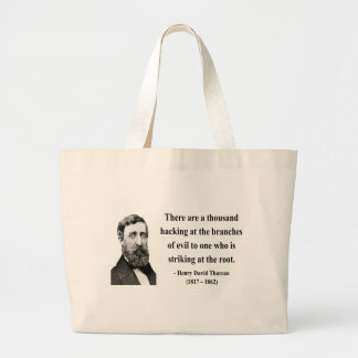 Cita 5b de Thoreau Bolsa Tela Grande