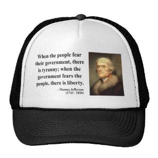 Cita 5c de Thomas Jefferson Gorros Bordados