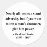 Cita 6a de Abraham Lincoln Etiquetas Redondas
