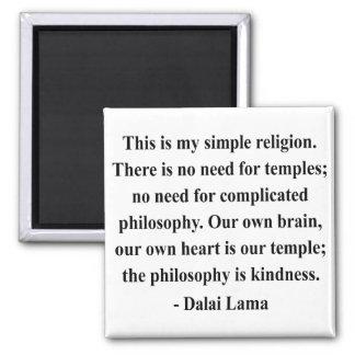 cita 6a de Dalai Lama Imán Cuadrado