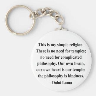 cita 6a de Dalai Lama Llavero Redondo Tipo Pin