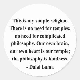 cita 6a de Dalai Lama Pegatina Redonda