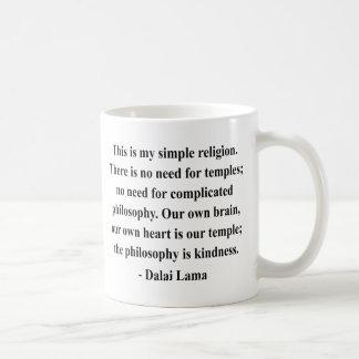cita 6a de Dalai Lama Taza Básica Blanca