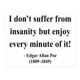 Cita 6a de Edgar Allen Poe Postal