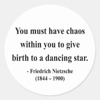 Cita 6a de Nietzsche Etiquetas Redondas