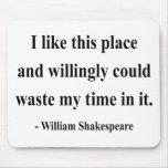 Cita 6a de Shakespeare Alfombrillas De Raton