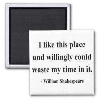 Cita 6a de Shakespeare Imán Cuadrado