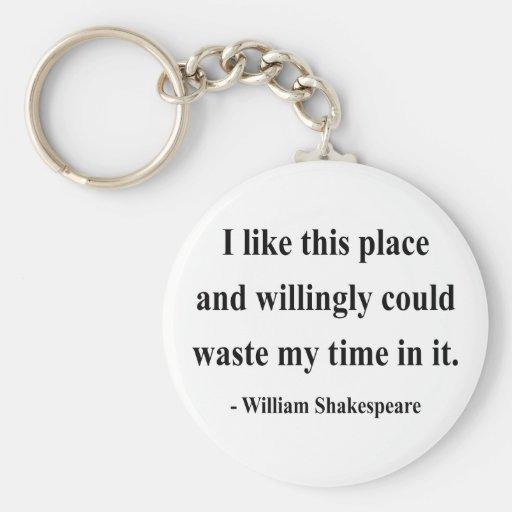 Cita 6a de Shakespeare Llavero Redondo Tipo Pin