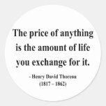 Cita 6a de Thoreau Etiqueta Redonda