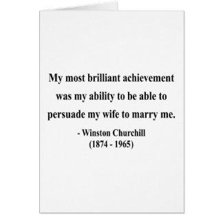 Cita 6a de Winston Churchill Felicitación