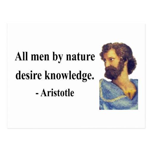 Cita 6b de Aristóteles Tarjetas Postales