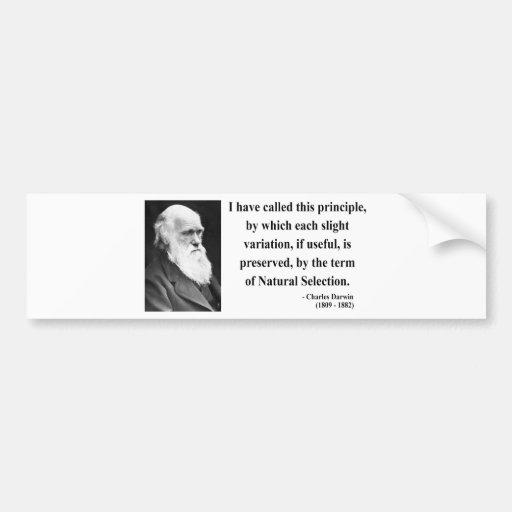 Cita 6b de Charles Darwin Etiqueta De Parachoque