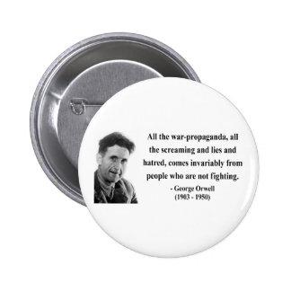 Cita 6b de George Orwell Pins